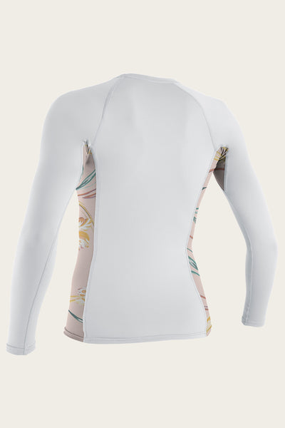 WOMEN'S SIDE PRINT L/S RASH GUARD