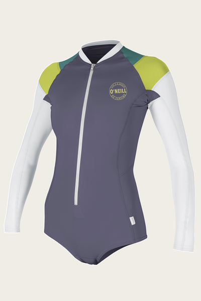 WOMEN'S FRONT ZIP L/S SURF SUIT