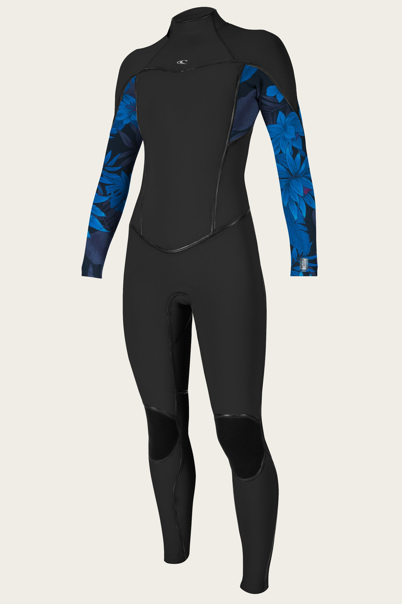 Women'S Psycho One 3/2Mm Back Zip Full Wetsuit - Black/Bluefaro/Black | O'Neill