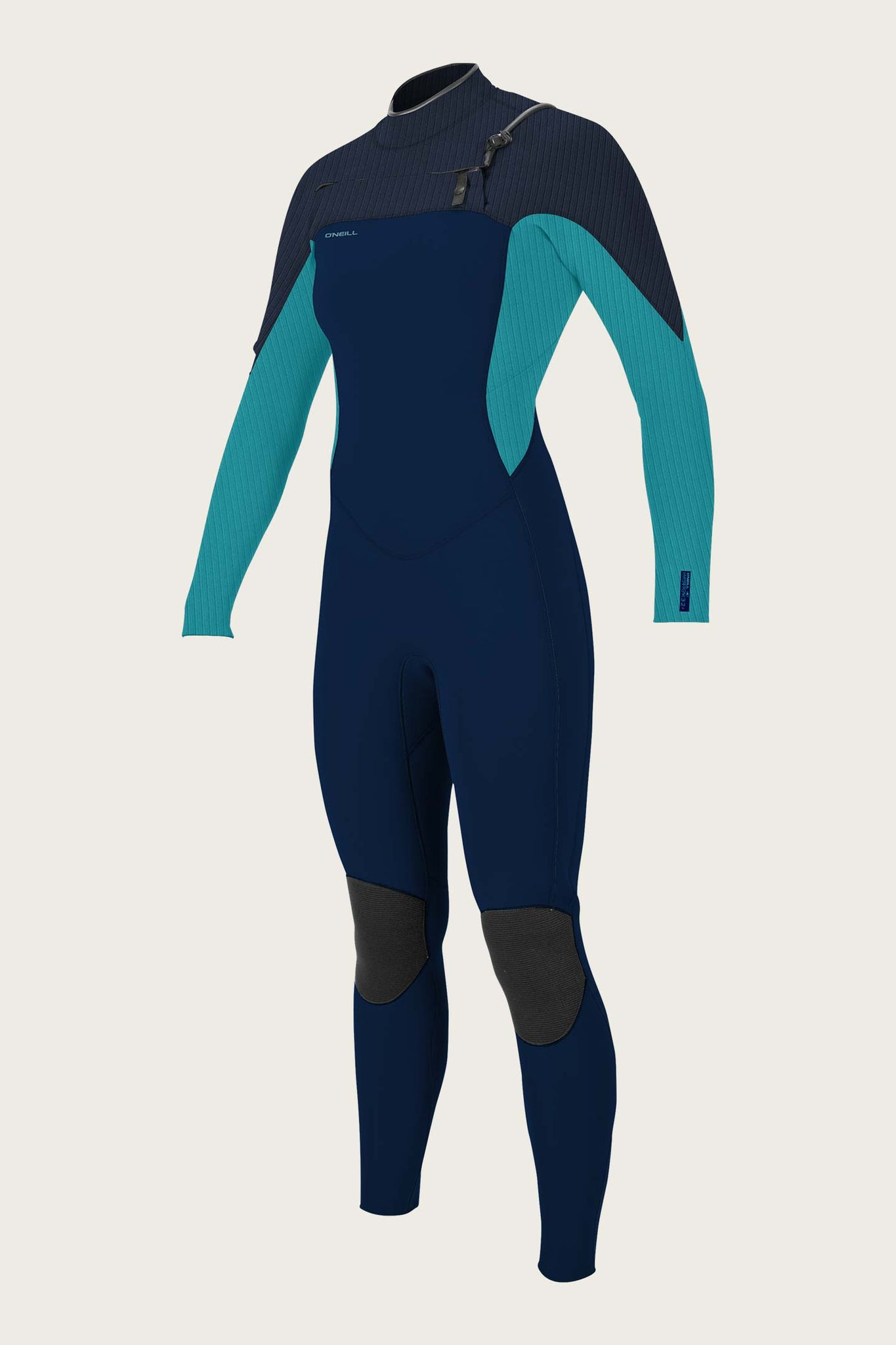 Womens Hyperfreak 3/2+Mm Chest Zip Full Wetsuit - Abys/Turq | O'Neill
