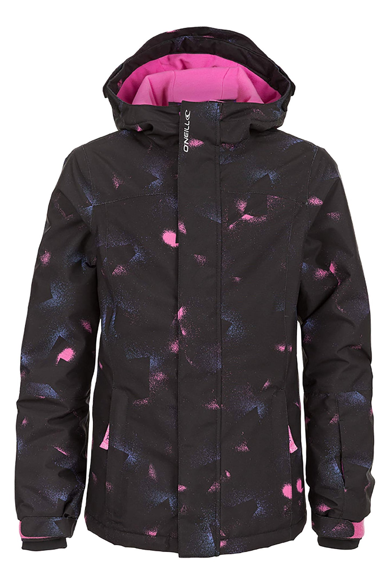 Girls Dazzle Snow Jacket - Blk Aop Rd | O'Neill