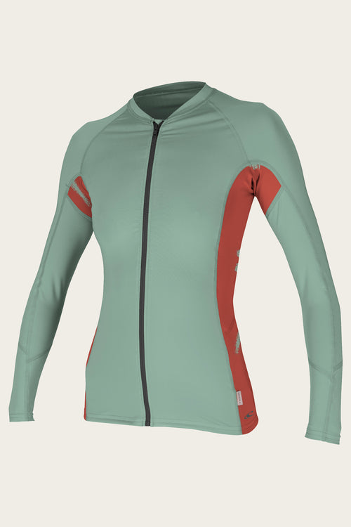 WOMEN'S FULL ZIP L/S SUN SHIRT