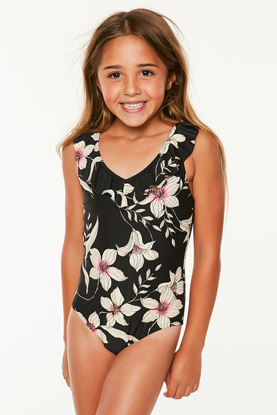 LITTLE GIRLS ALBANY FLORAL ONE PIECE