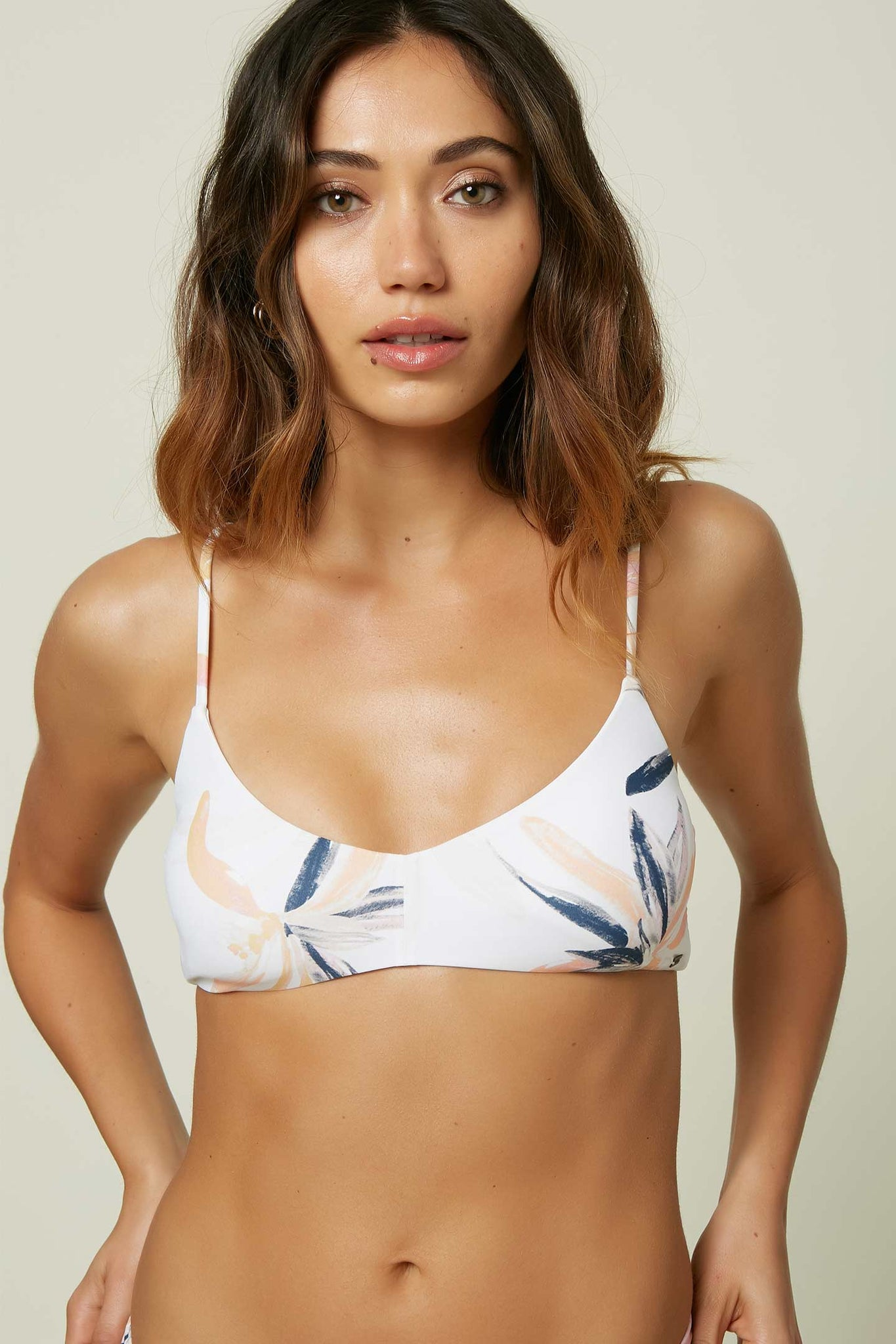 Alexis Palm Bralette Top - White | O'Neill