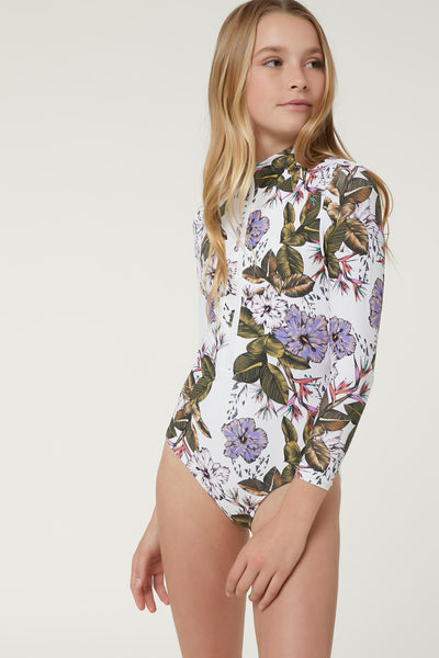 Girls Allure Paradise Long Sleeve One Piece | O'Neill Clothing USA