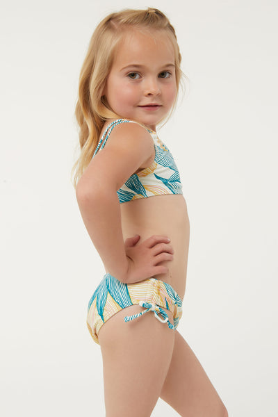 LITTLE GIRLS BETHANY DOUBLE STRAP SWIM SET