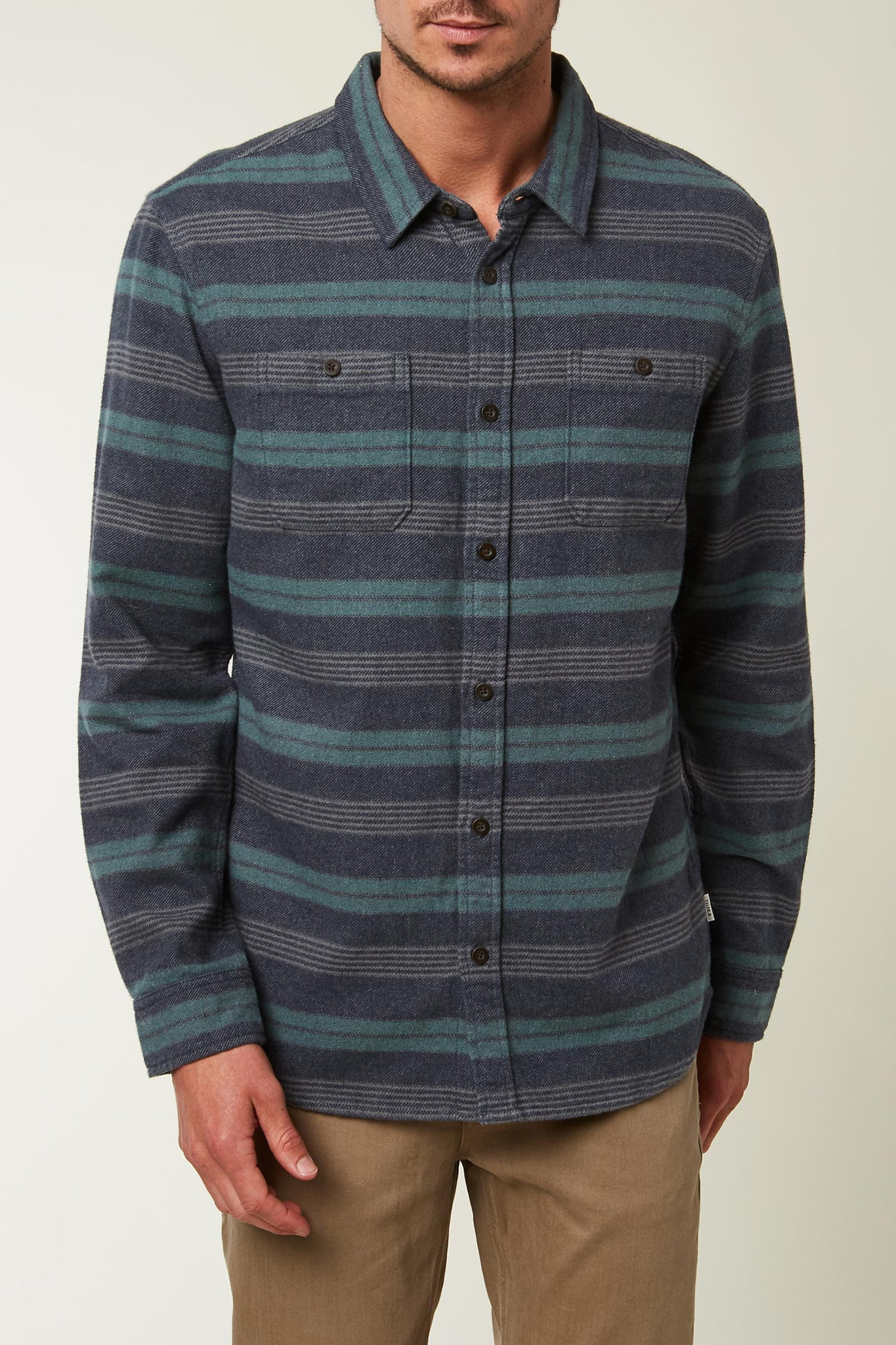 Jack O'Neill Blanket Long Sleeve Shirt - Navy | O'Neill