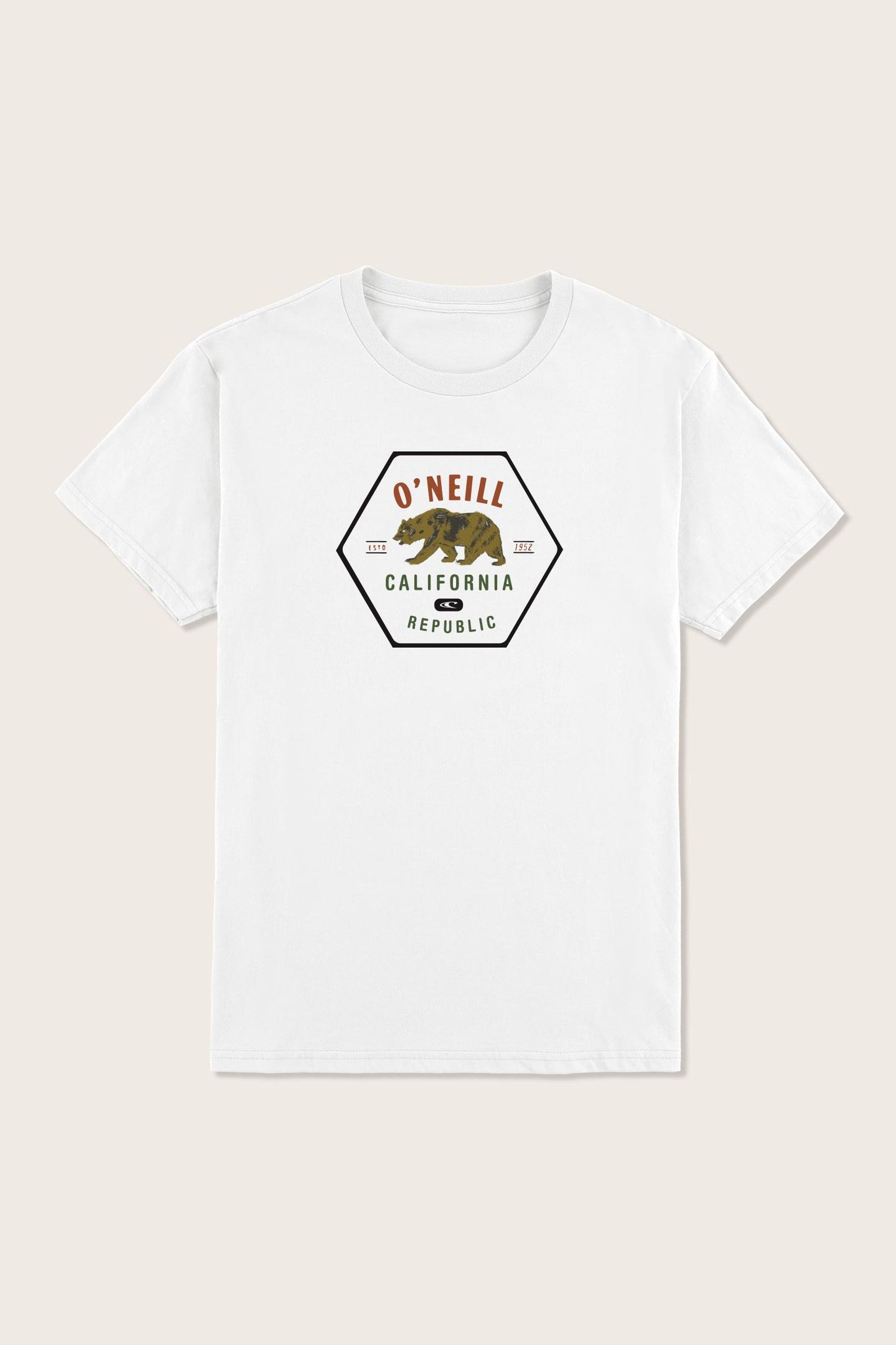 Little Boys Cali Bear Tee - White | O'Neill
