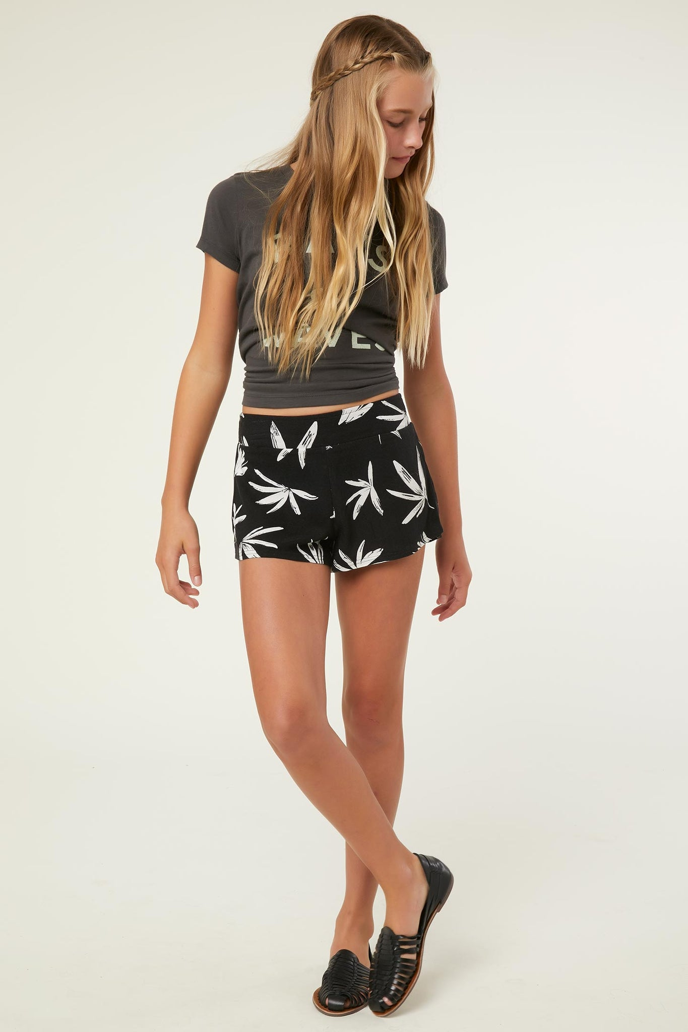 Girls Chanell Woven Shorts - Anthracite | O'Neill