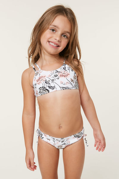 LITTLE GIRLS COLLEEN BRALETTE SWIM SET