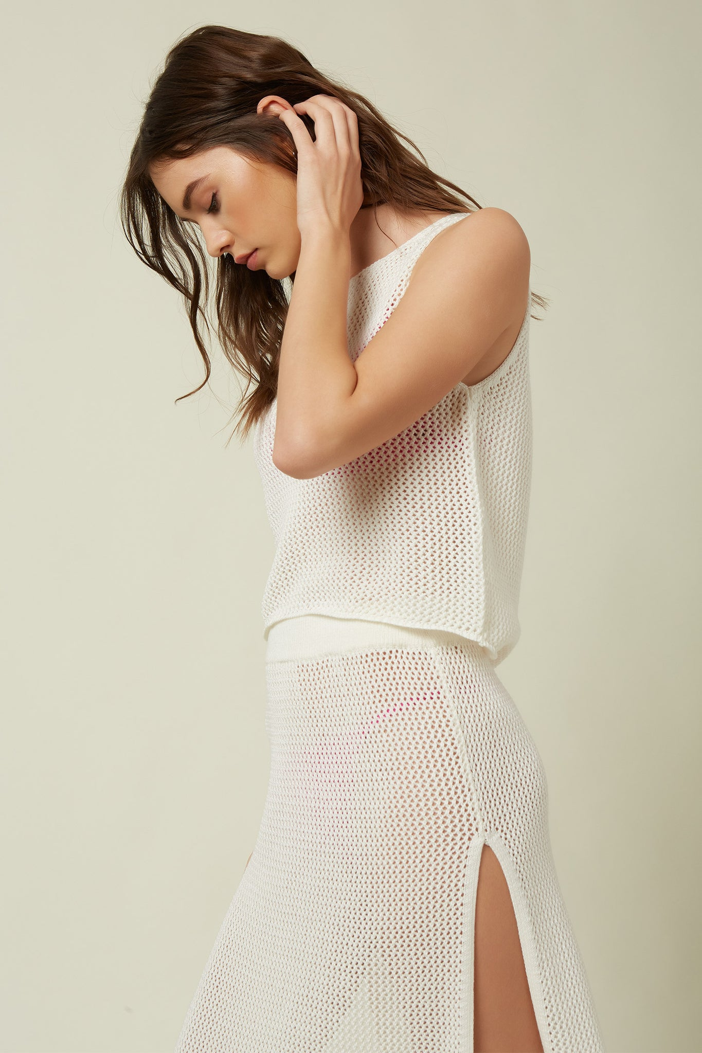 Collie Mesh Tank Cover-Up - Winter White | O'Neill