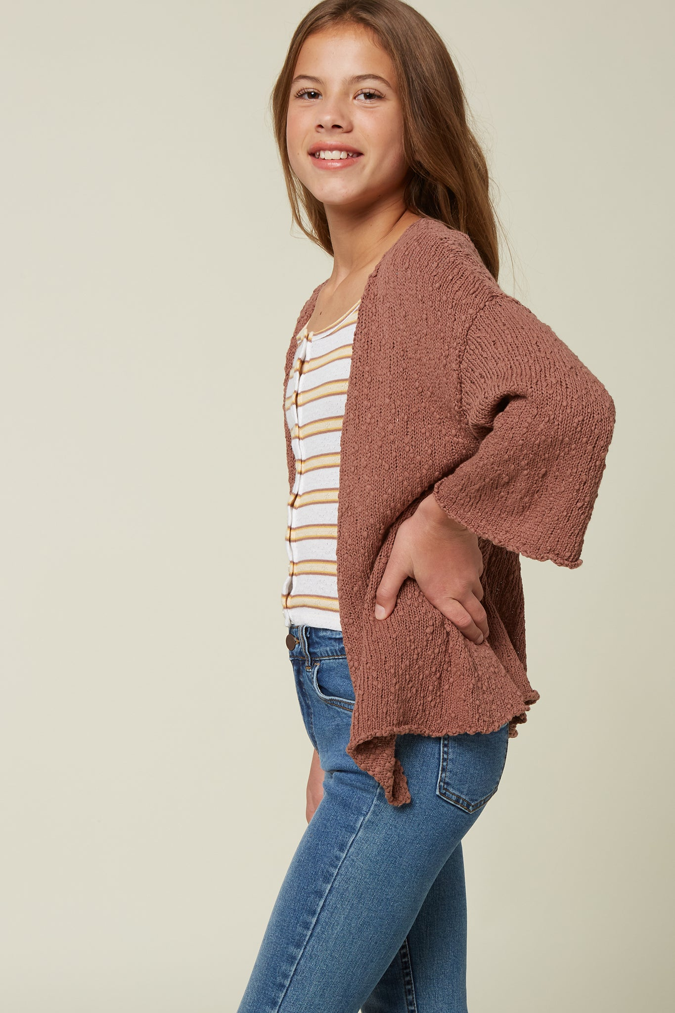 Girls Coralie Sweater - Cognac | O'Neill