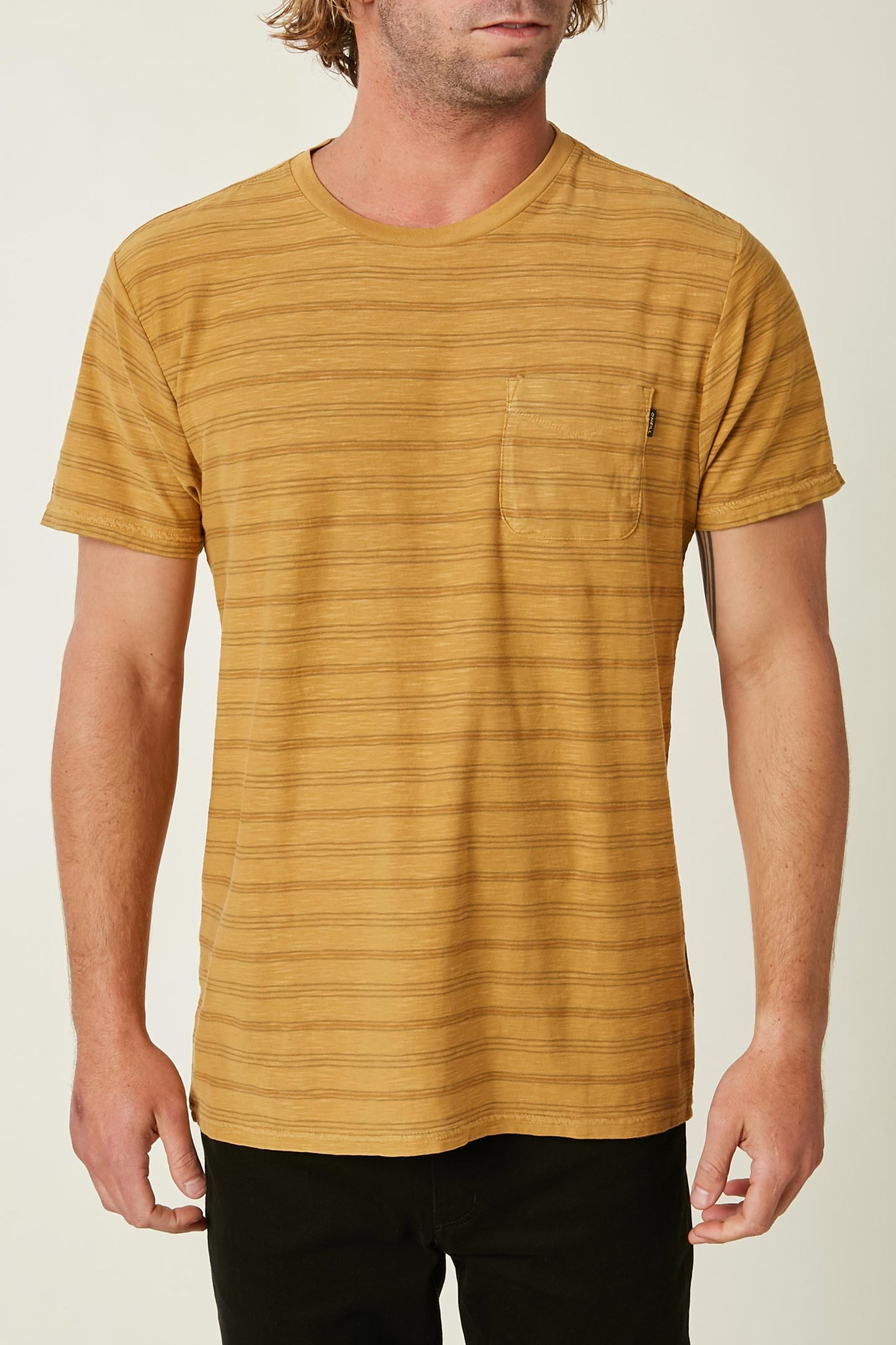 Dinsmore Stripe Crew Tee - Antique Gold | O'Neill