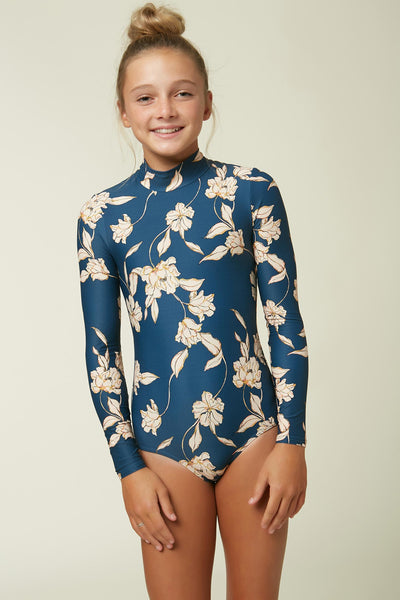 GIRLS EMERSON LONG SLEEVE ONE PIECE