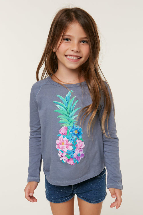 LITTLE GIRLS FLORET LONG SLEEVE TEE