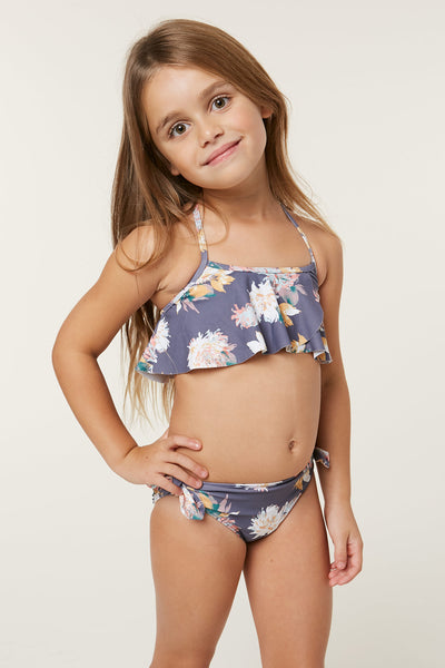 LITTLE GIRLS FREEFALL FLOUNCE SWIM SET