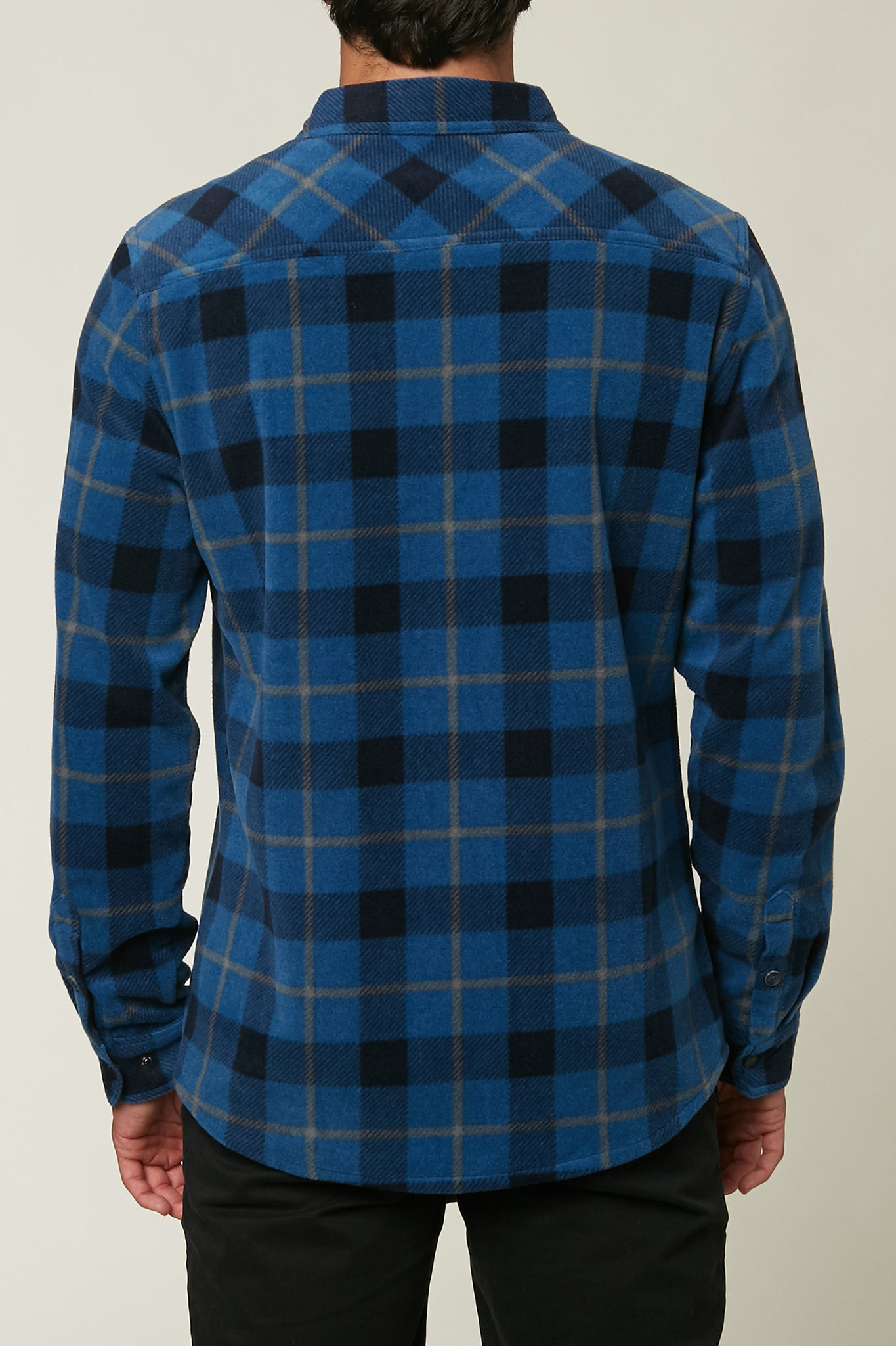 Glacier Plaid Superfleece Flannel - Dark Blue | O'Neill
