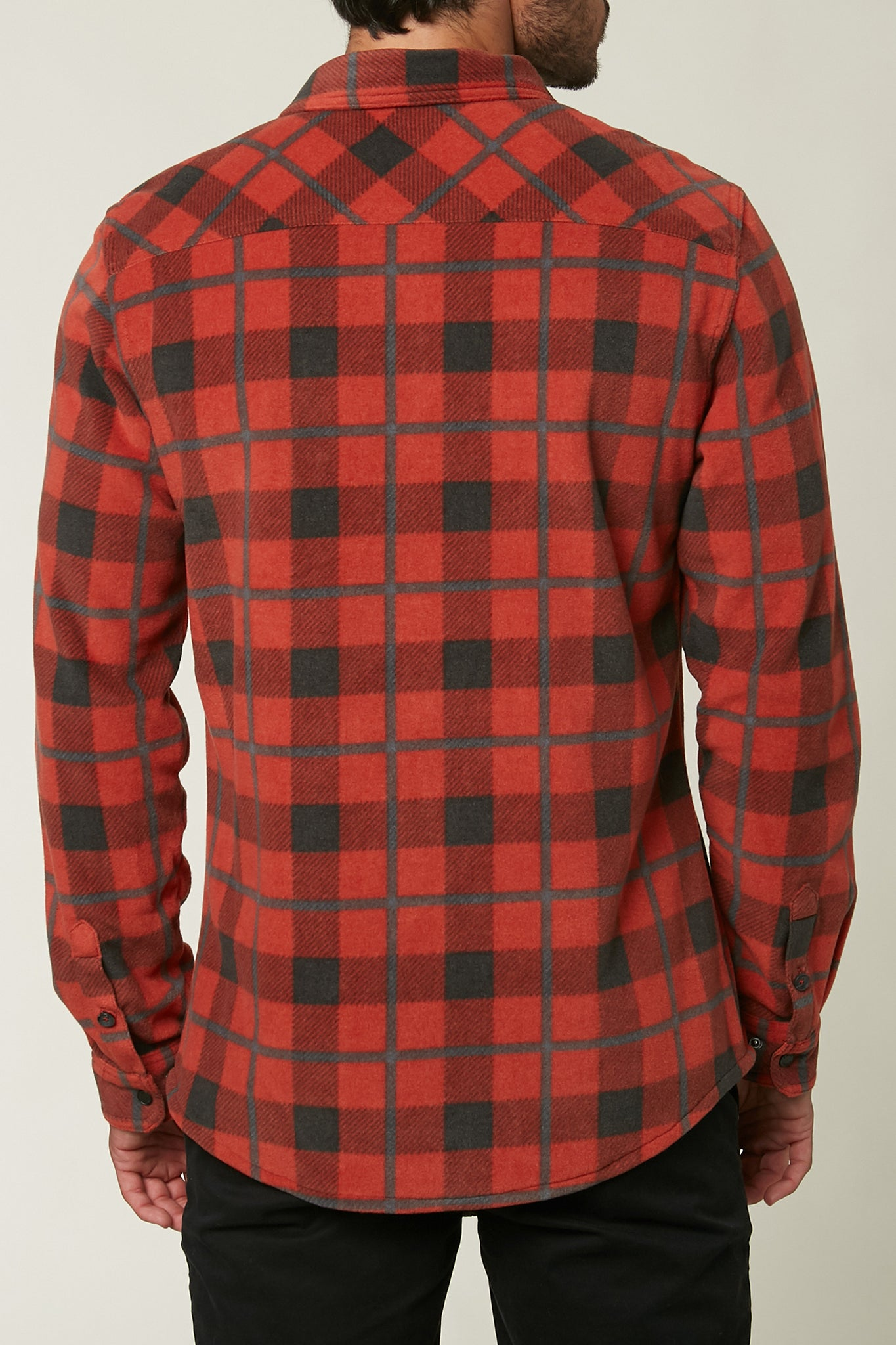 Glacier Plaid Superfleece Flannel - Red | O'Neill