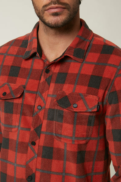 GLACIER PLAID SUPERFLEECE FLANNEL