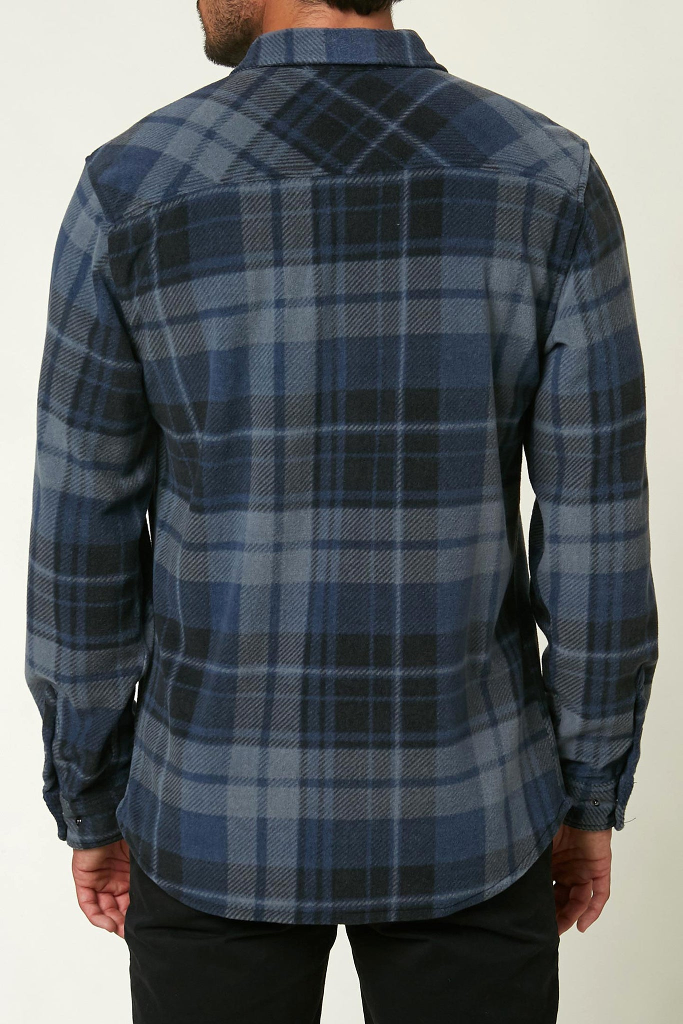 Glacier Plaid Superfleece Flannel - Slate | O'Neill