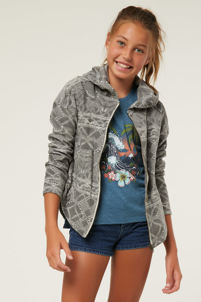 GIRLS SUPERFLEECE HARLOW ZIP UP HOODIE