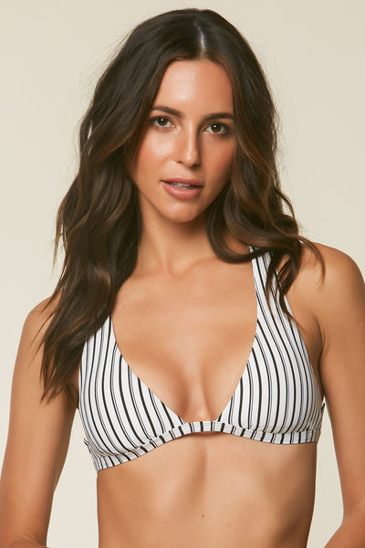HIGHWAY STRIPE HALTER TOP