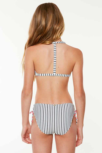 GIRLS HIGHWAY STRIPE TRI TOP SWIM SET