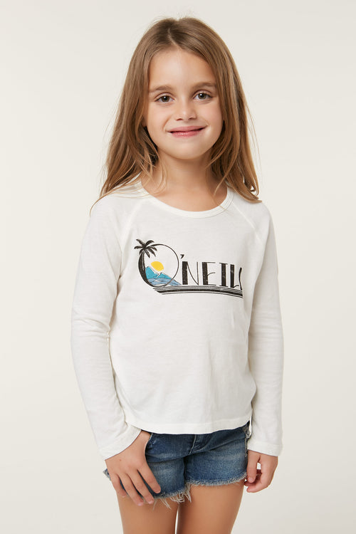LITTLE GIRLS INLET LONG SLEEVE TEE