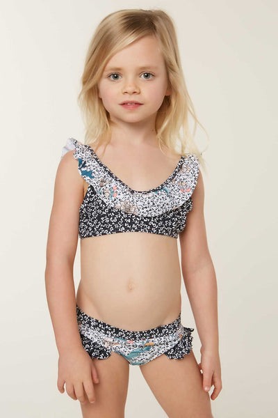 LITTLE GIRLS JAMISON RUFFLE SWIM SET