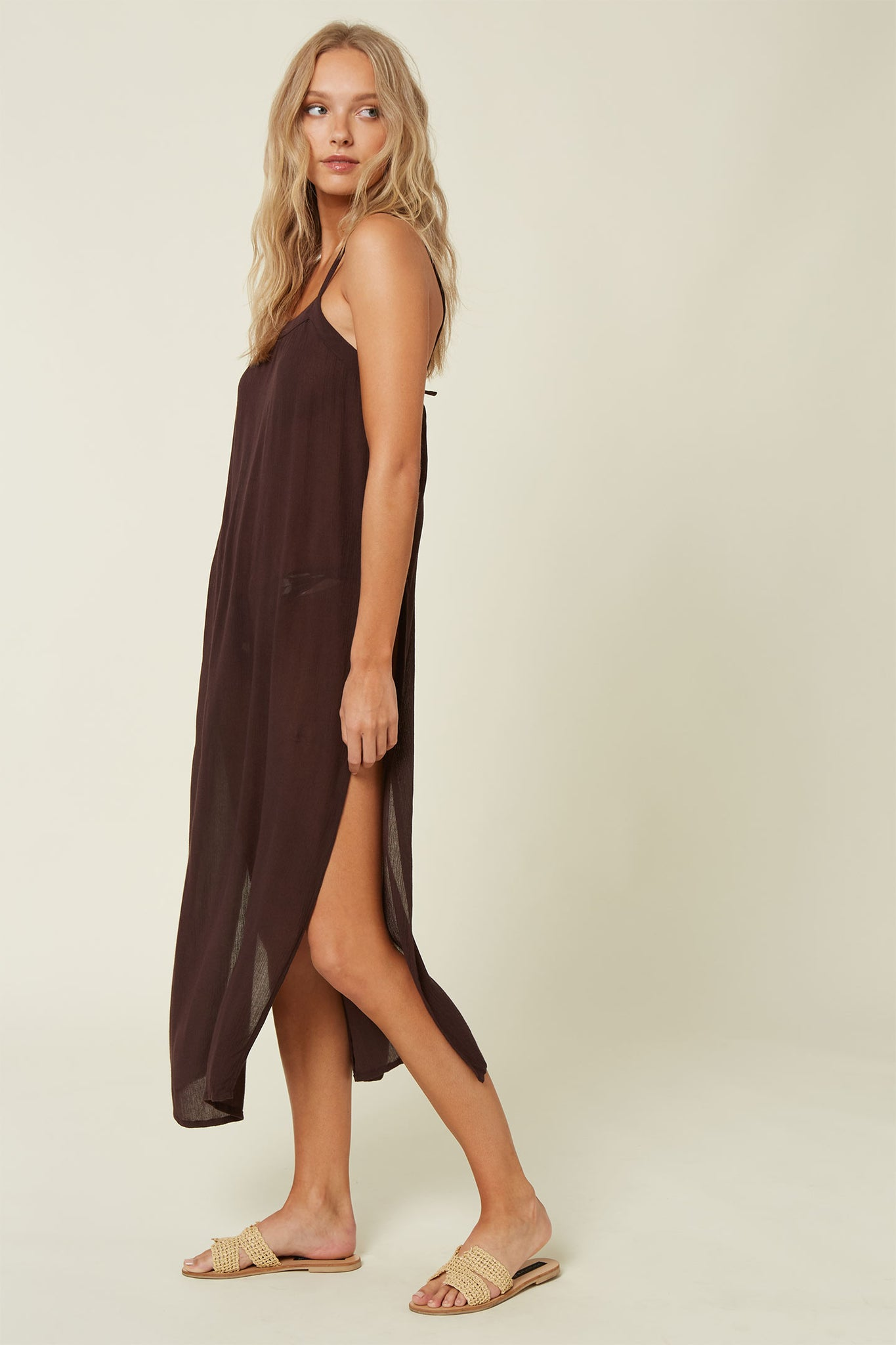 Layna Midi Cover-Up - Brown | O'Neill