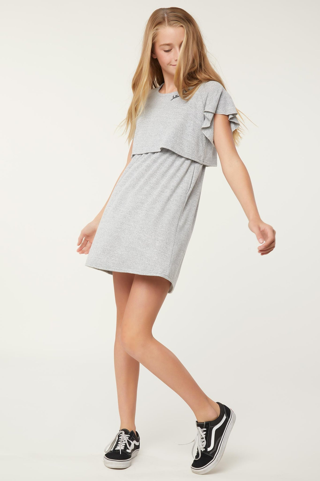 Girls Lazy Day Dress - Heather Grey | O'Neill