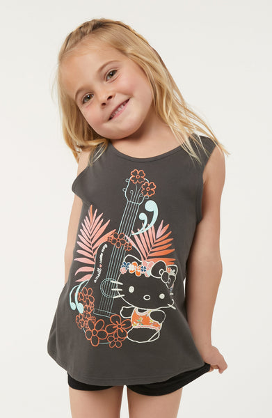 HELLO KITTY X O'NEILL LITTLE ALOHA TANK