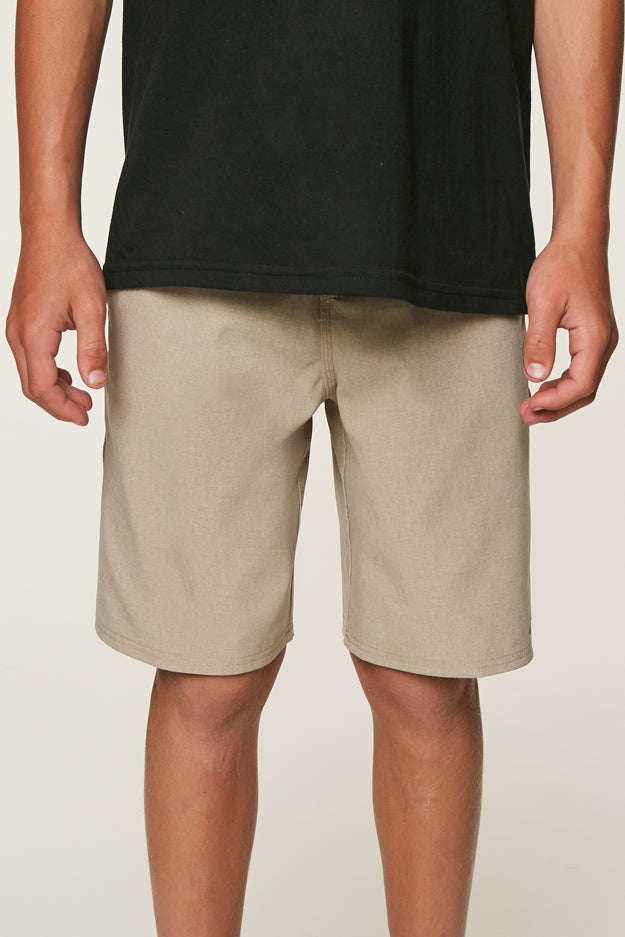 BOYS LOADED HEATHER HYBRID SHORTS