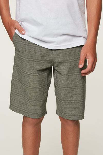 BOYS LOCKED STRIPE HYBRID SHORTS
