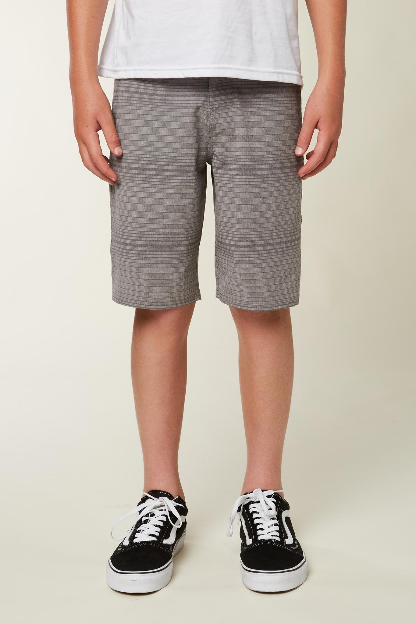 Boys Locked Stripe Shorts - Dark Pewter | O'Neill