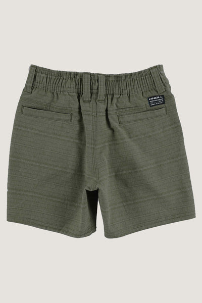 LITTLE BOYS LOCKED STRIPE HYBRID SHORTS