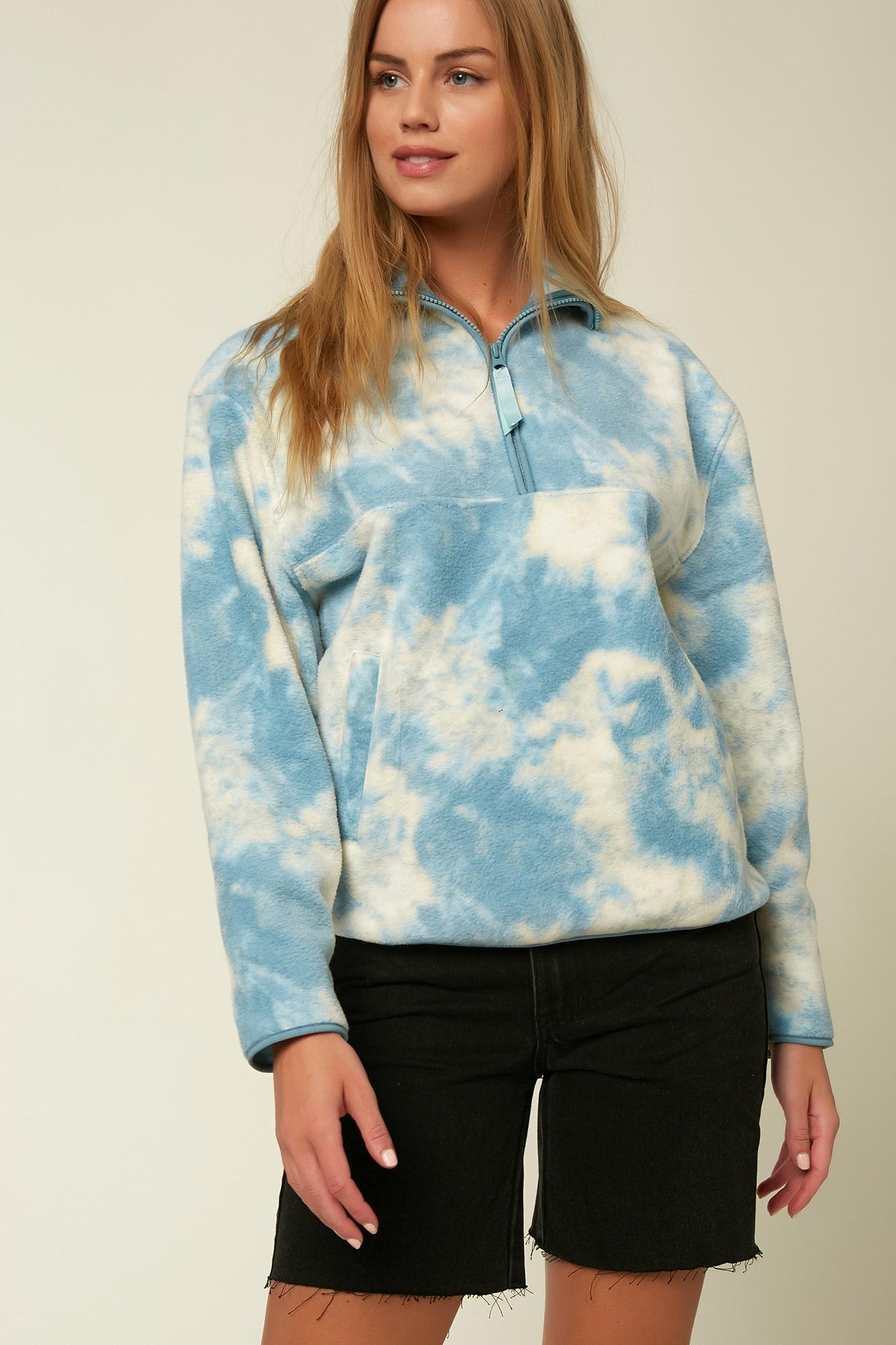 LUCIE SHERPA PULLOVER JACKET