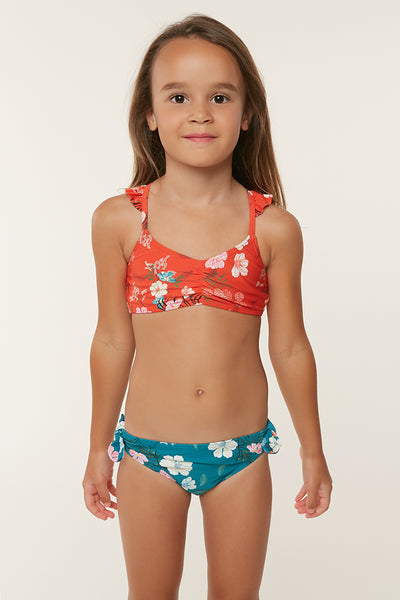 LITTLE GIRLS LUCY RUFFLE TOP SWIMSET