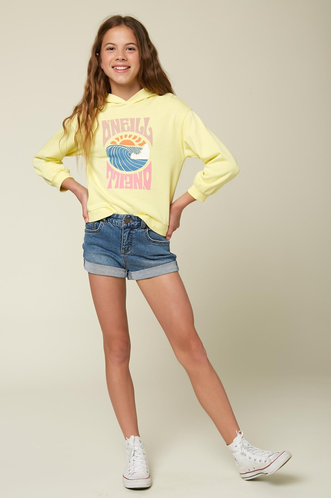 Girls Luisa Pullover Hoodie - Citrus Shock | O'Neill