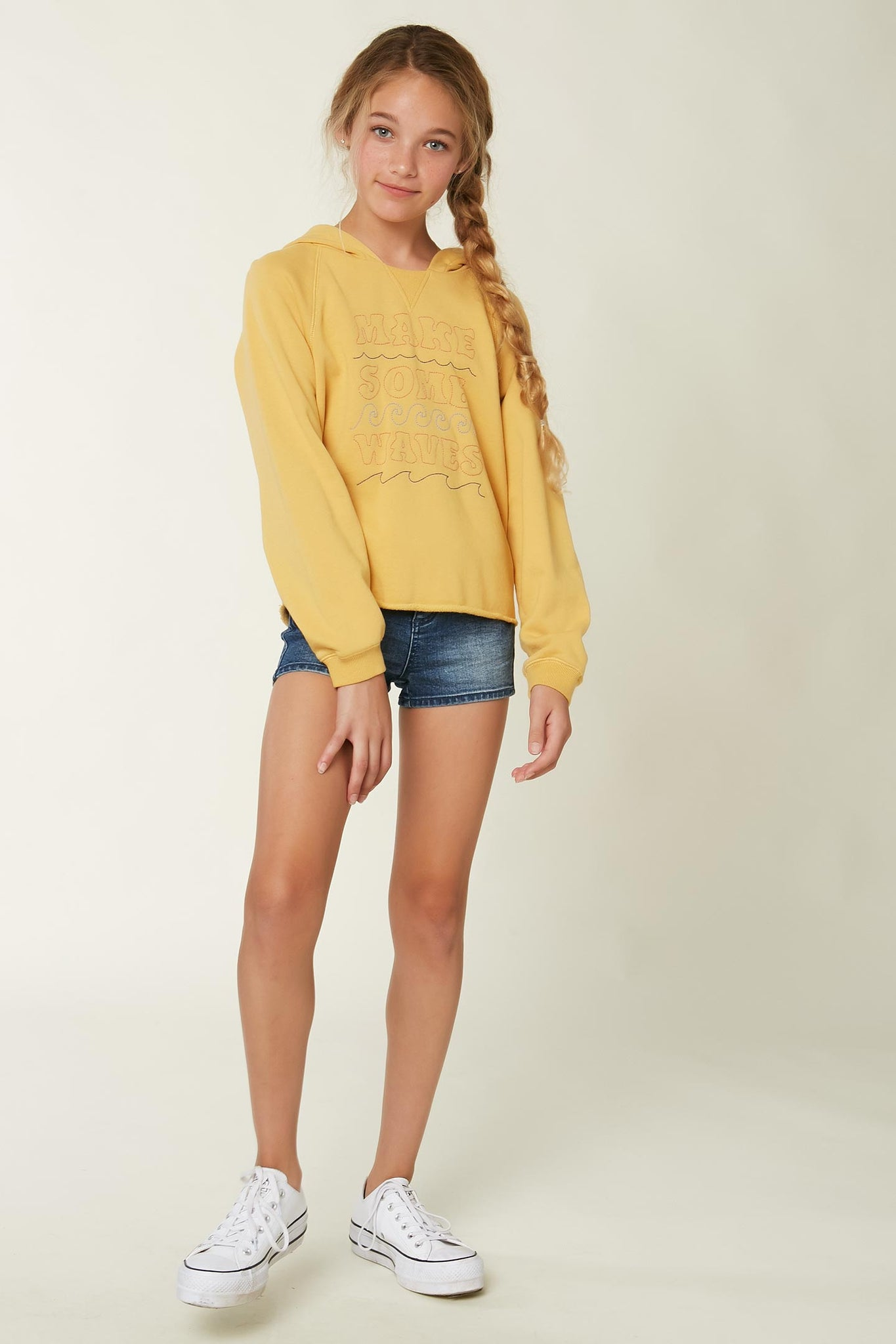 Girls Lyza Hooded Pullover - Goldie | O'Neill
