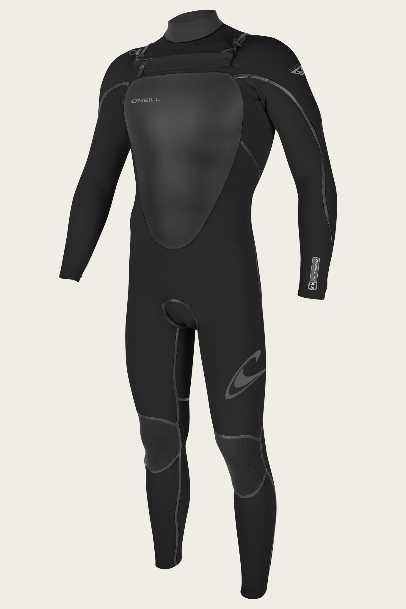 Mutant 4/3Mm Chest Zip Full W/Hood Wetsuit - Blk/Blk | O'Neill