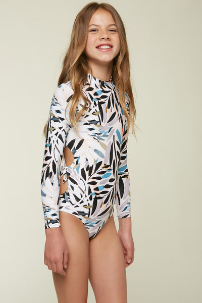 GIRLS NORA LONG SLEEVE ONE PIECE