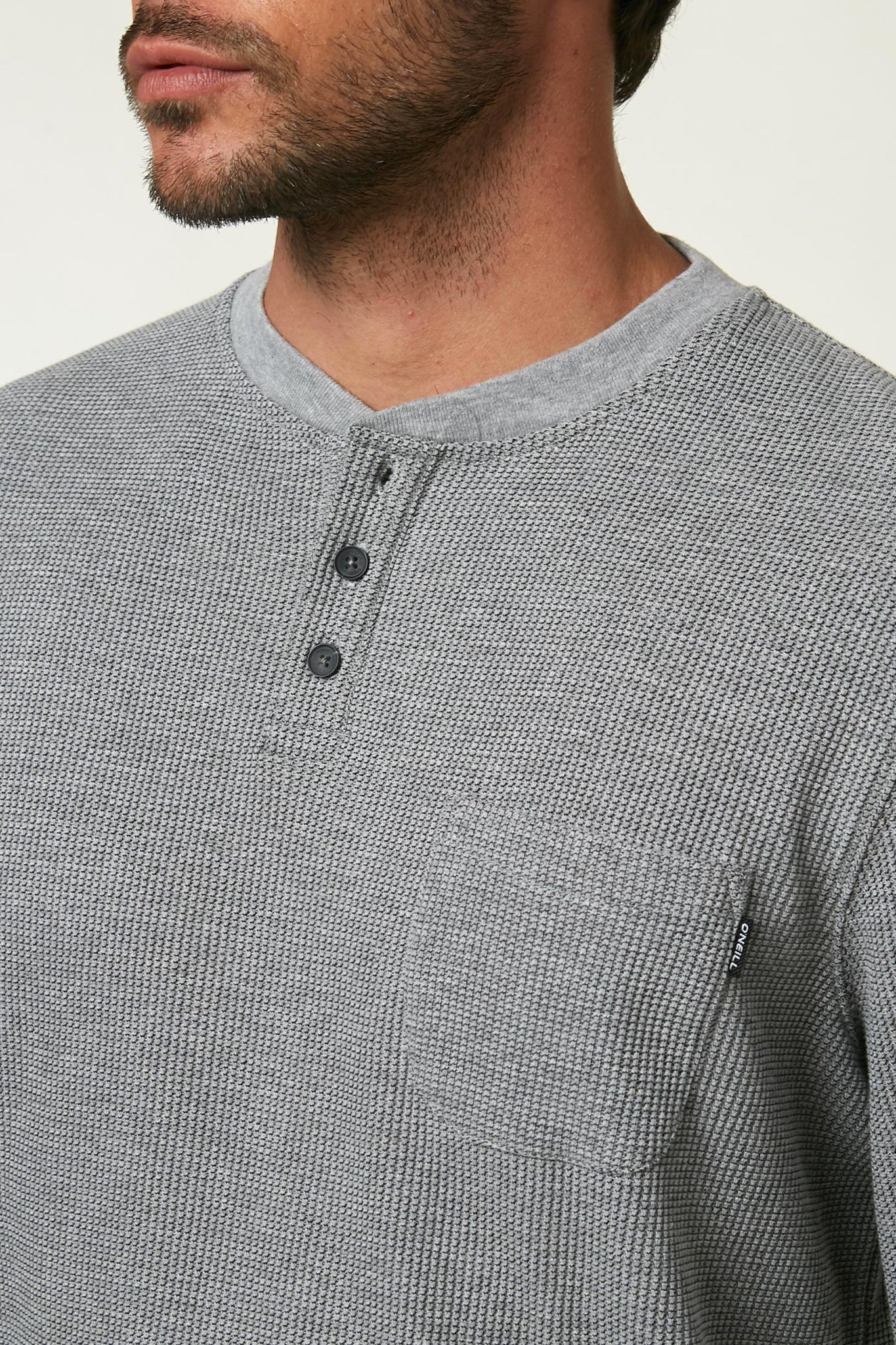 Olympia Long Sleeve Henley Shirt - Light Grey | O'Neill