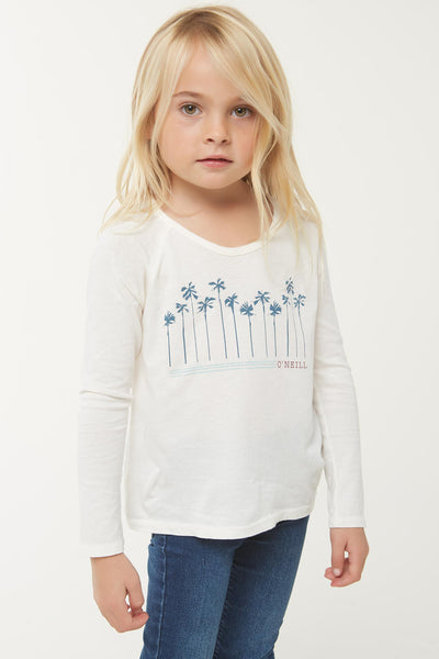 LITTLE GIRLS PALM PARADISE LONG SLEEVE TEE