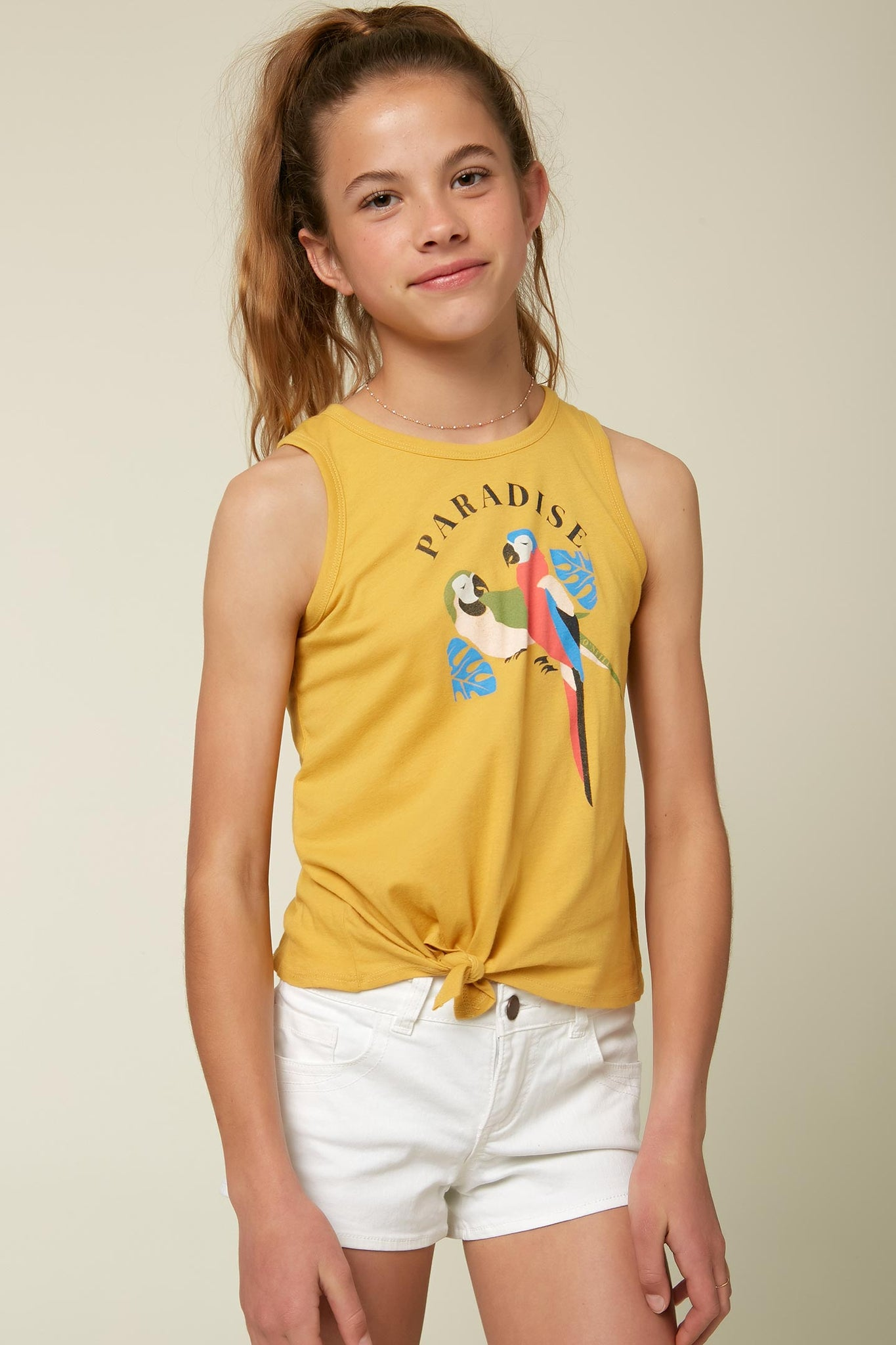 Girls Paradise Parrots Tank - Goldie | O'Neill