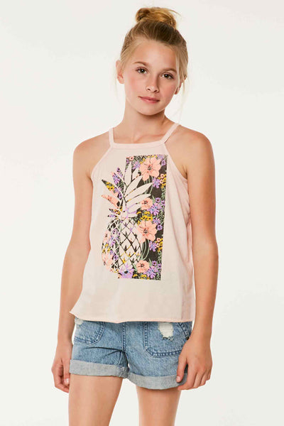 GIRLS PINEAPPLE GARDEN TANK