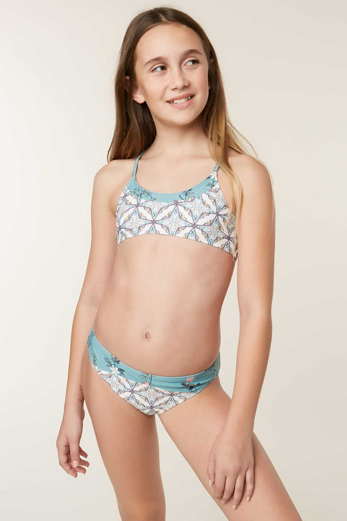 GIRLS PIPER BRALETTE TOP SWIM SET