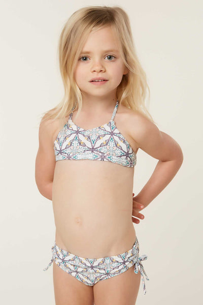 LITTLE GIRLS PIPER TWIN BRALETTE SWIM SET