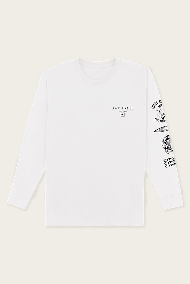 Jack O'Neill Progression Long Sleeve Tee - White | O'Neill