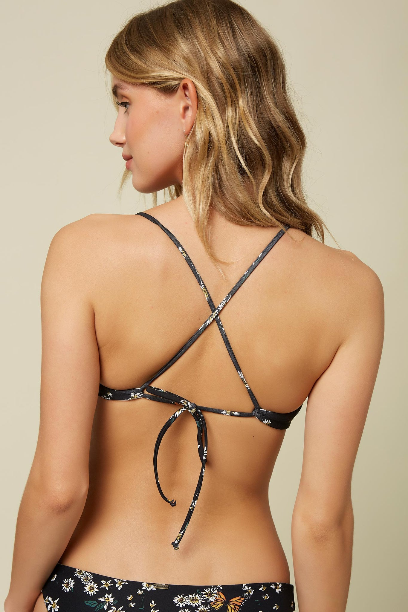Raven Revo Cross Back Bralette Top - Black | O'Neill